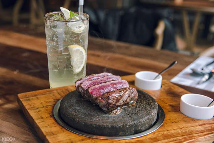 Sirloin Steak on the Stone at La Grillia in Seoul