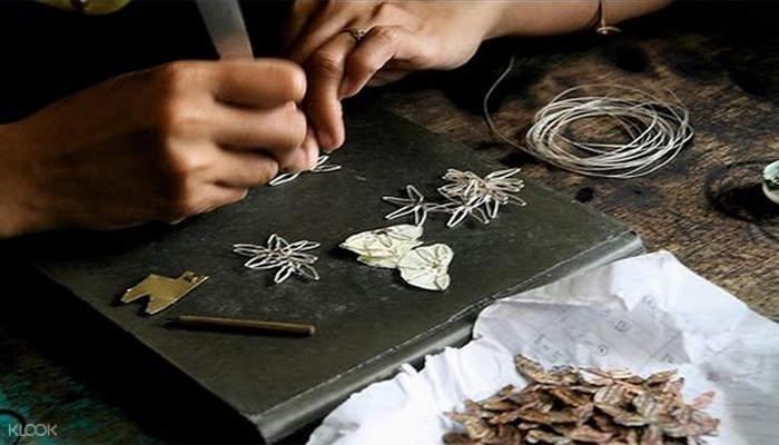 印尼银器制作
