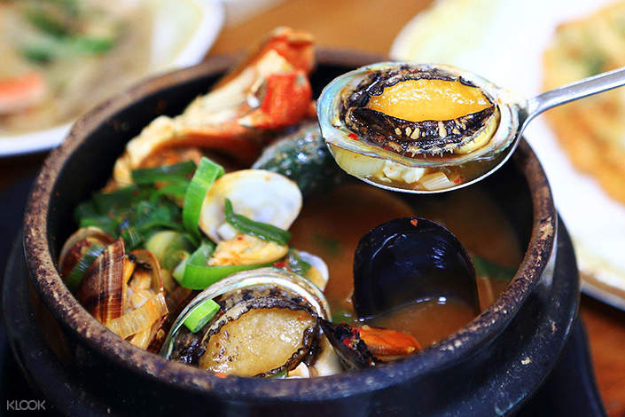 local seafood stew in jeju