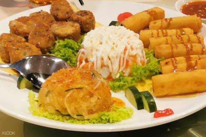 Lunch platter at the Ban Heng Harbourfront Centre