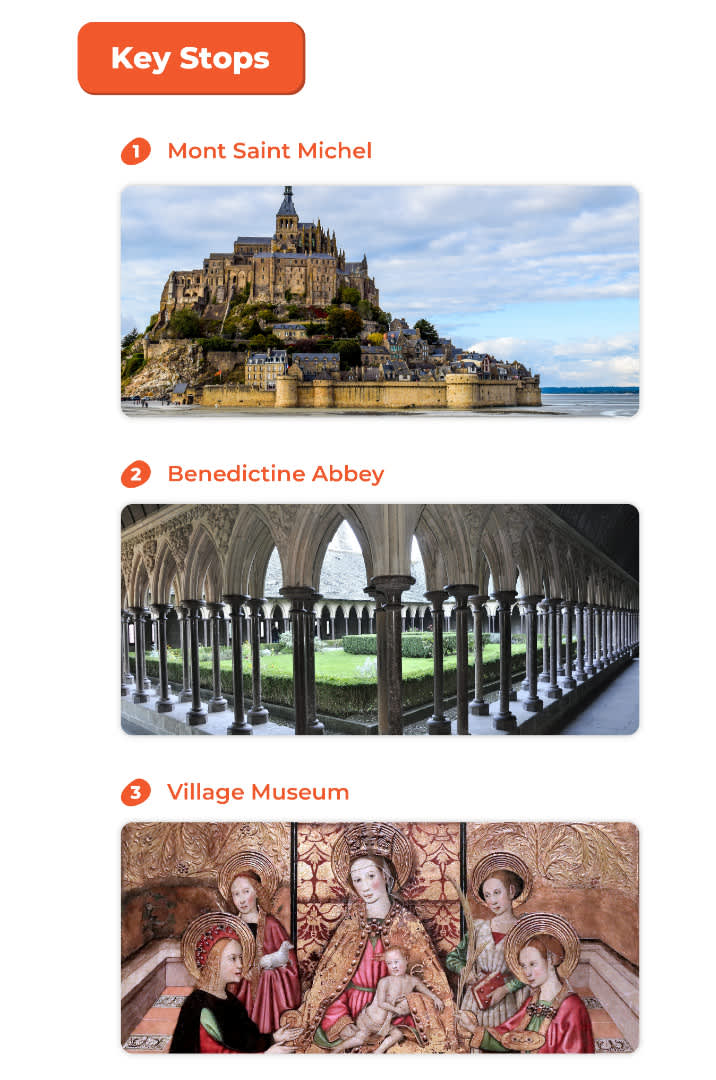 key attractions at the mont saint michel full day tour