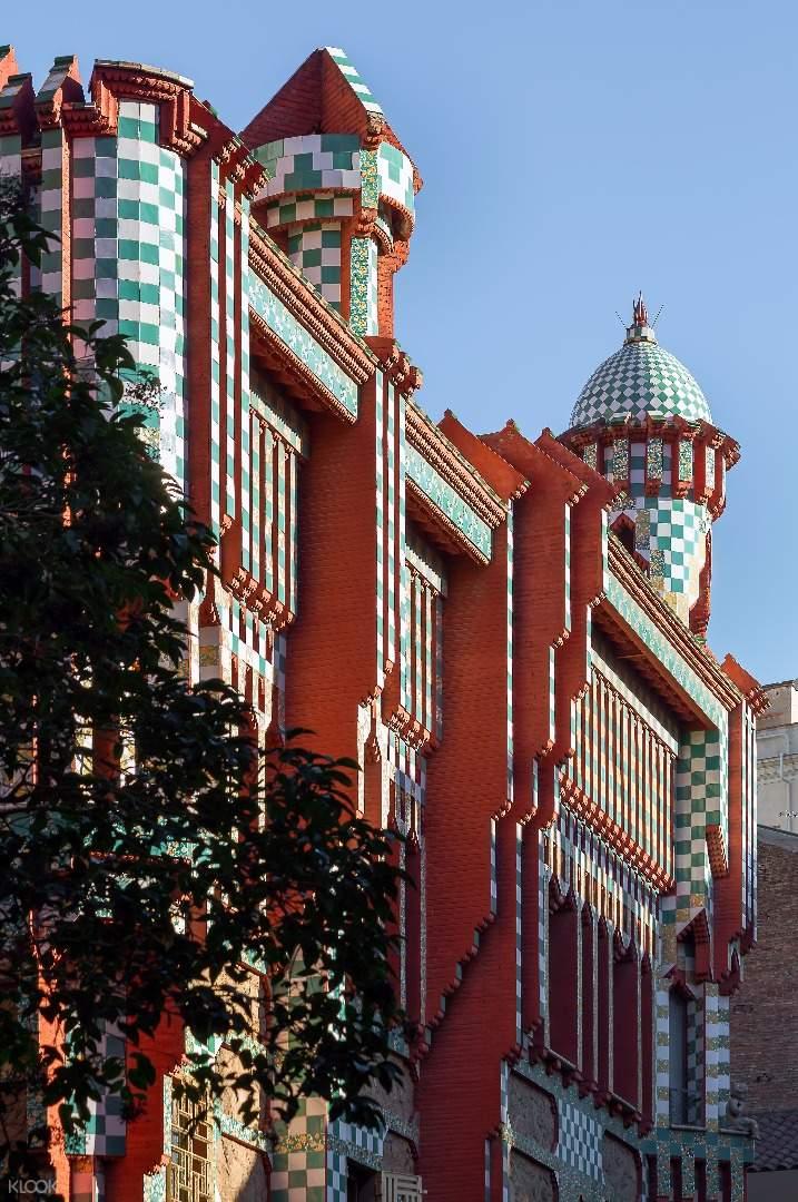 高迪作品,维森斯之家,维森斯之家门票,维森斯之家免排队,西班牙自由行,巴塞罗那建筑,高迪建筑