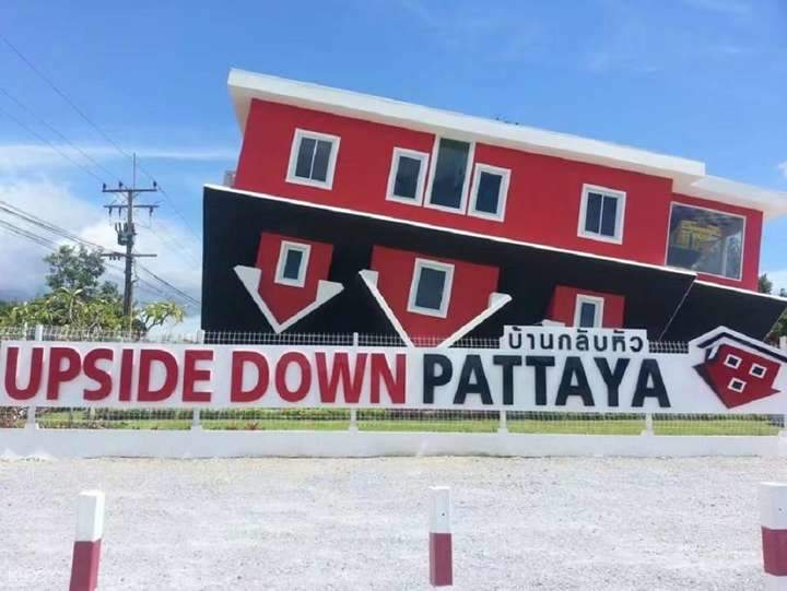 In front of upside down pattaya