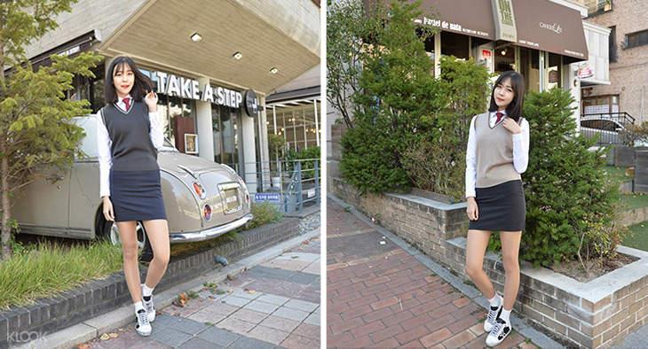 Korean high-school uniform rental