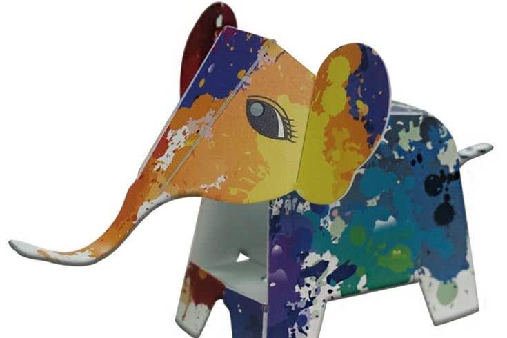 撥漆款大象筆架