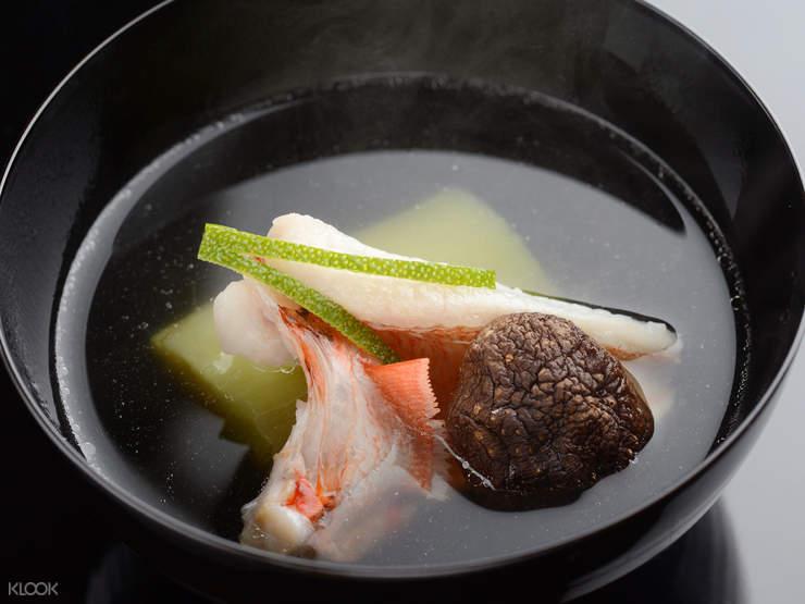 太月怀石料理汤品