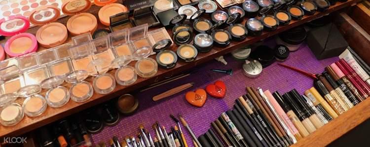 selection of makeup at EL beauty salon
