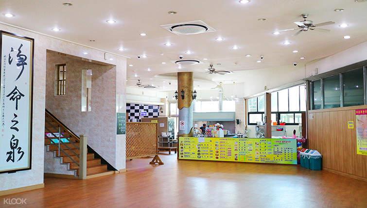 sanbangsan hot springs reception area