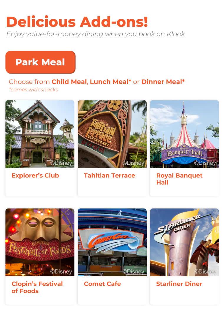 Hong kong Disneyland food add ons