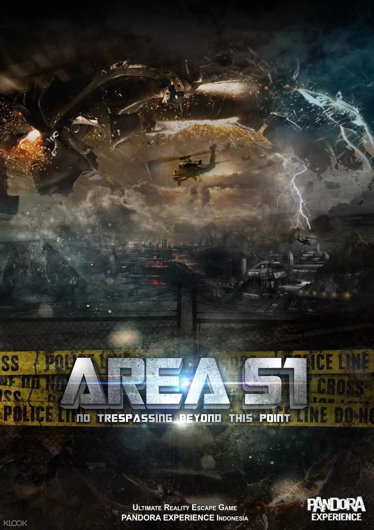 Area 51 poster Pandora Escape Room Bali