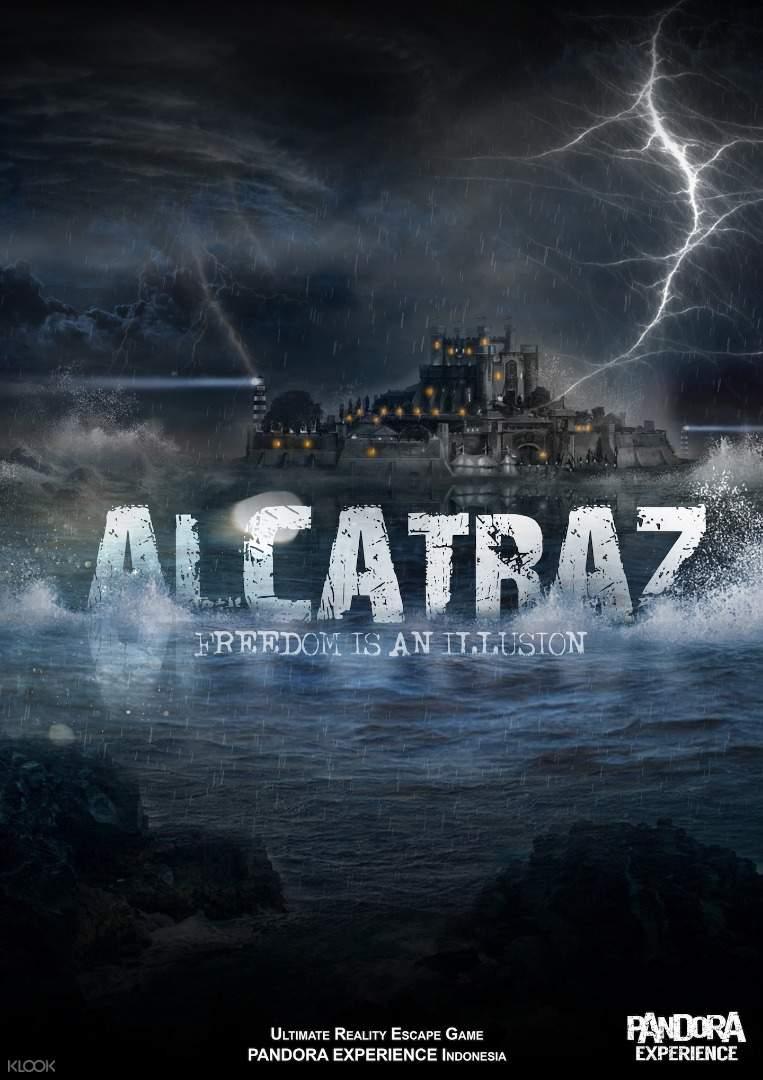 Alcatraz poster in Pandora Escape Room Bali