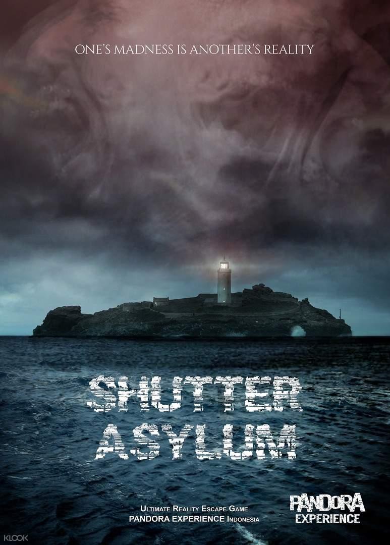 Shutter Asylum poster Pandora Escape Room Bali