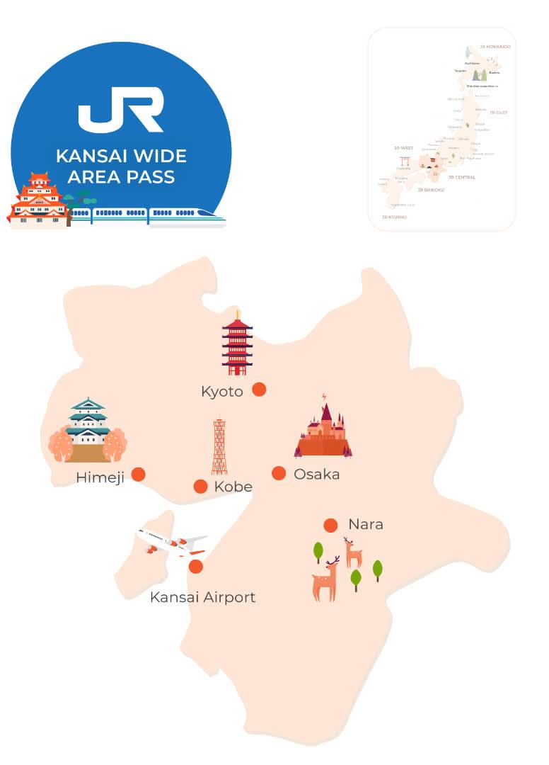 jr kansai wide rail pass map