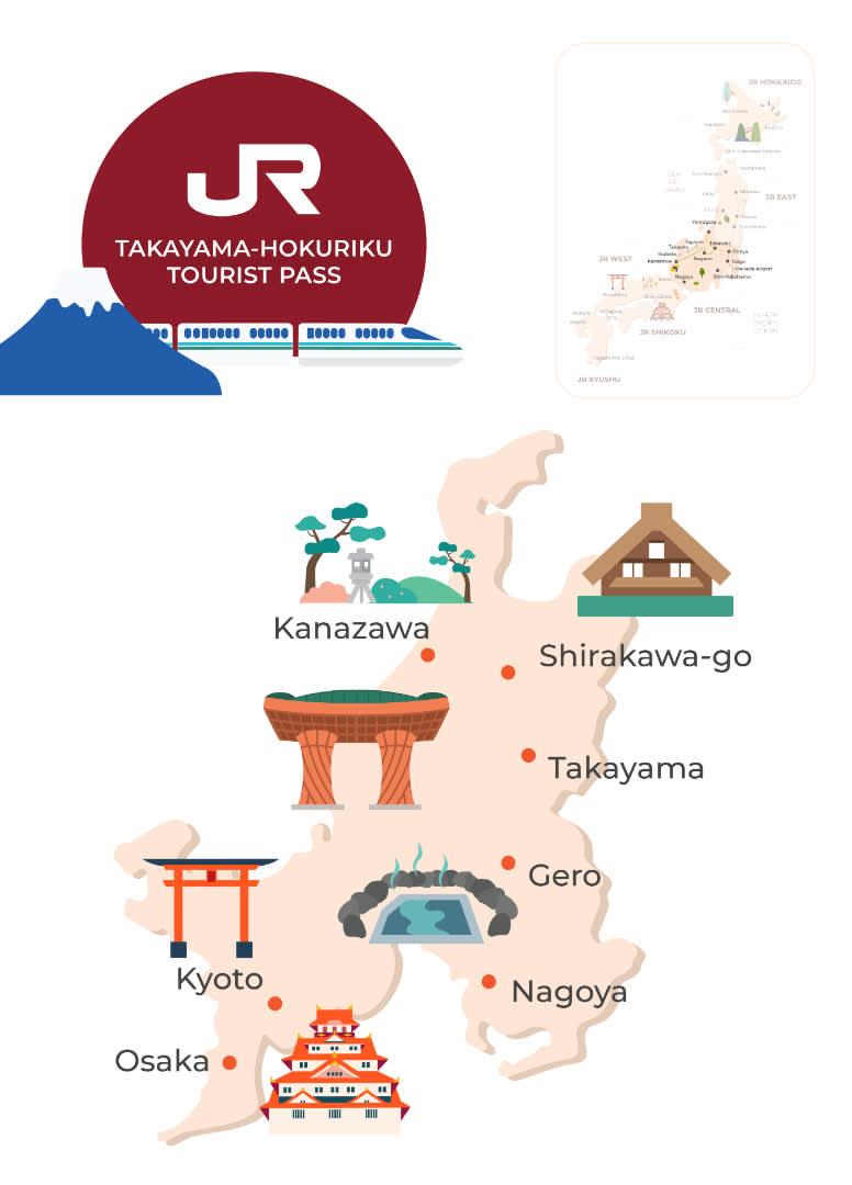 jr takayama hokuriku area tourist pass map