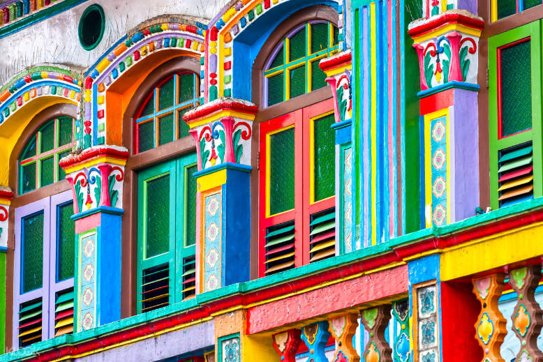 Wander around the colorful houses at Little India