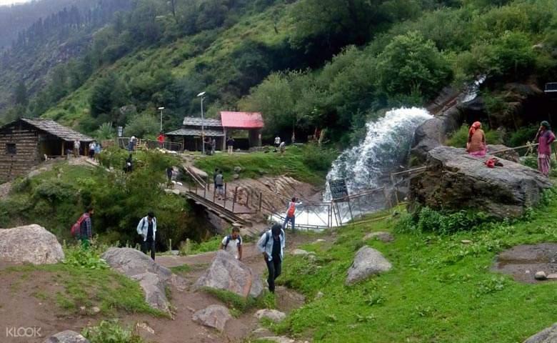 waterfalls and streams
