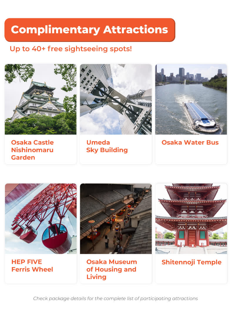 osaka amazing pass complimentary attractions