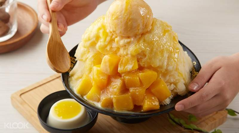 Image result for mango shaved ice taiwan