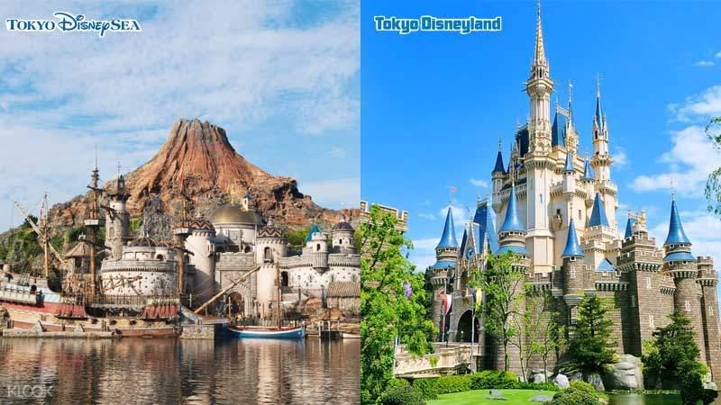 Tokyo Disney Resort Castle and Mountain