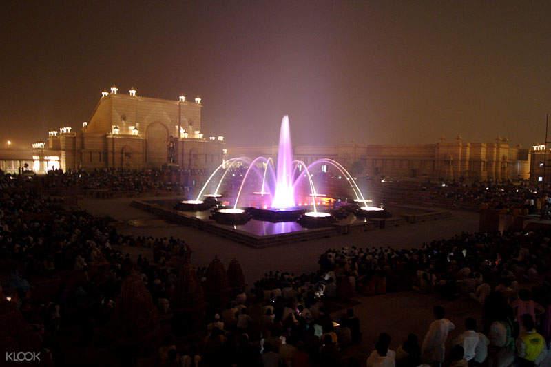 阿克萨达姆神庙 音乐喷泉表演