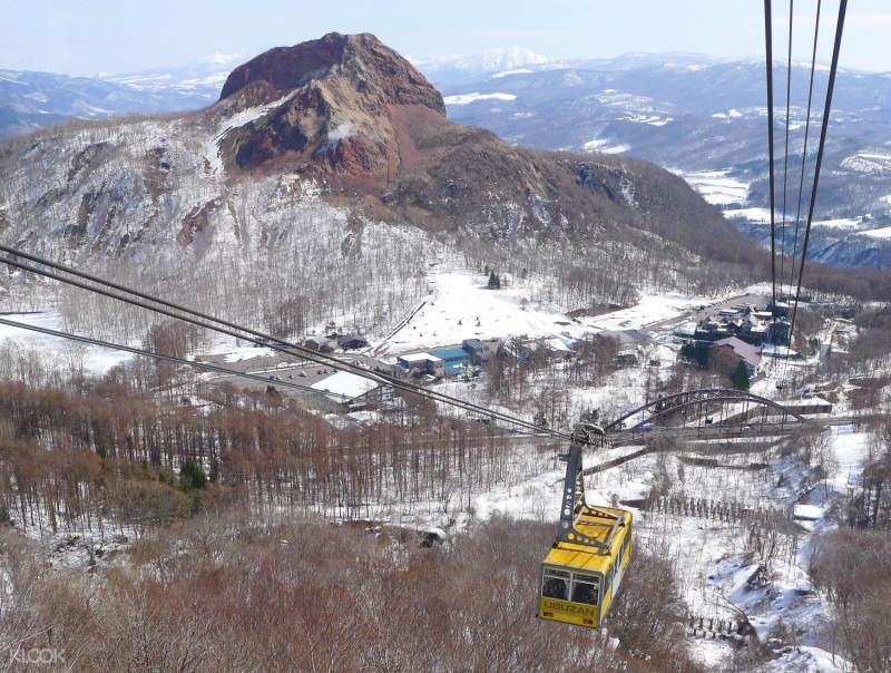 北海道有珠山缆车