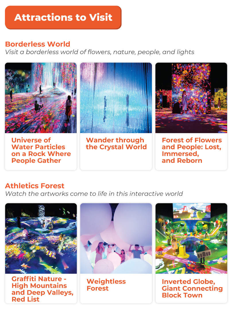 attractions to visit teamlab borderless
