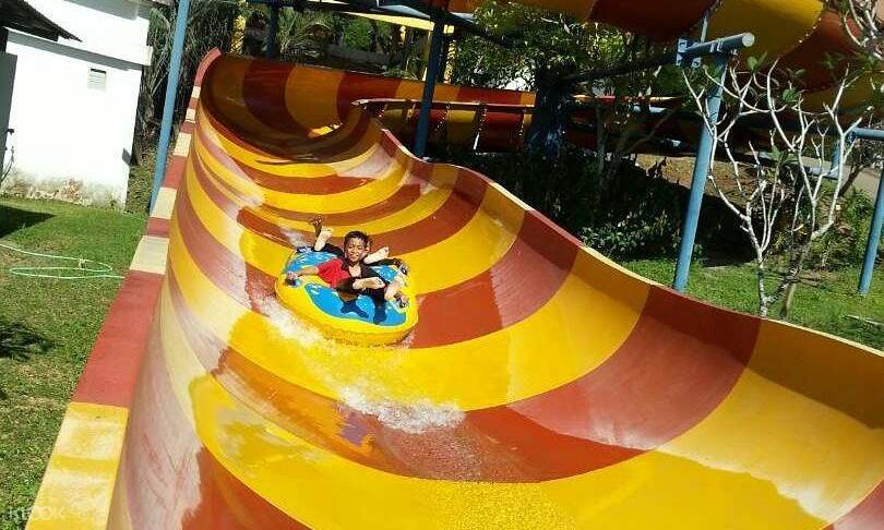 children on giant slide