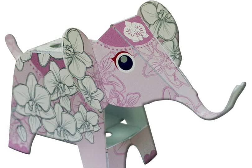蘭花款大象筆架