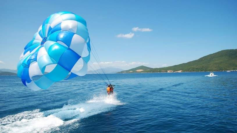 Join water sport activities at Doc Let beach at your own expense