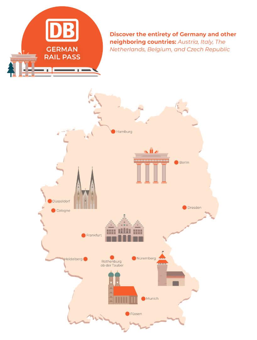 german rail pass map