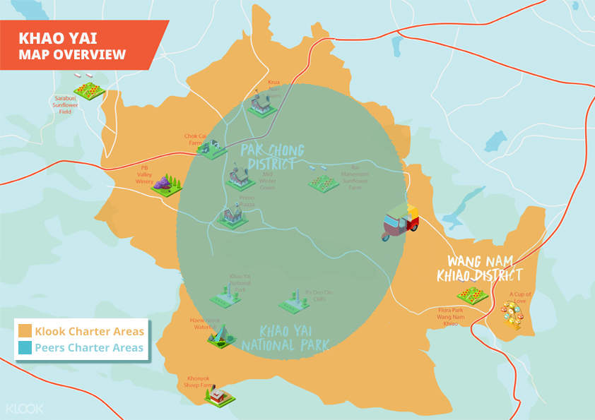 khao yai national park map