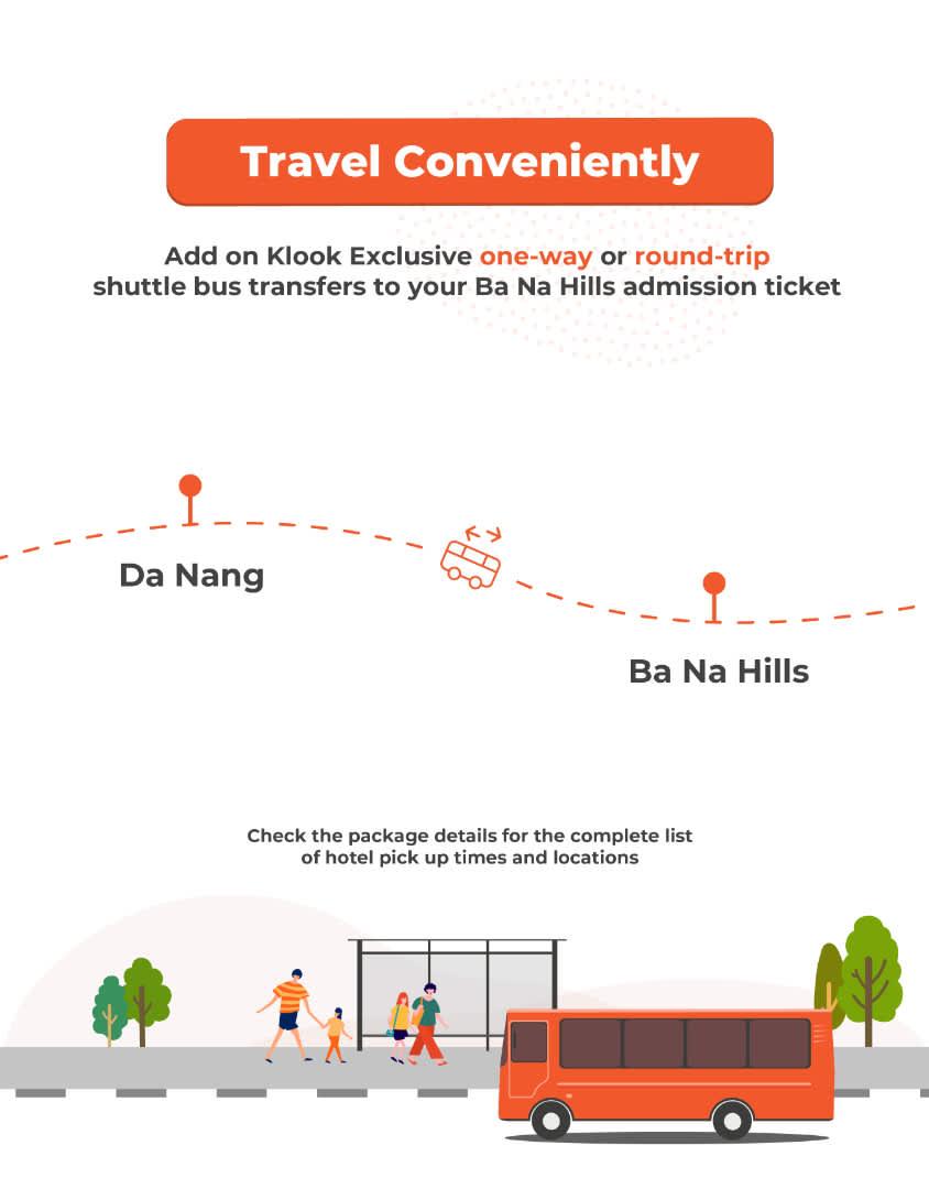 ba na hills admission ticket shuttle transfer add-on