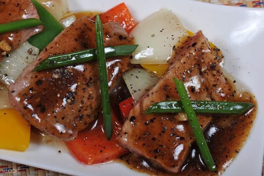 black pepper dish thai chef school bangkok