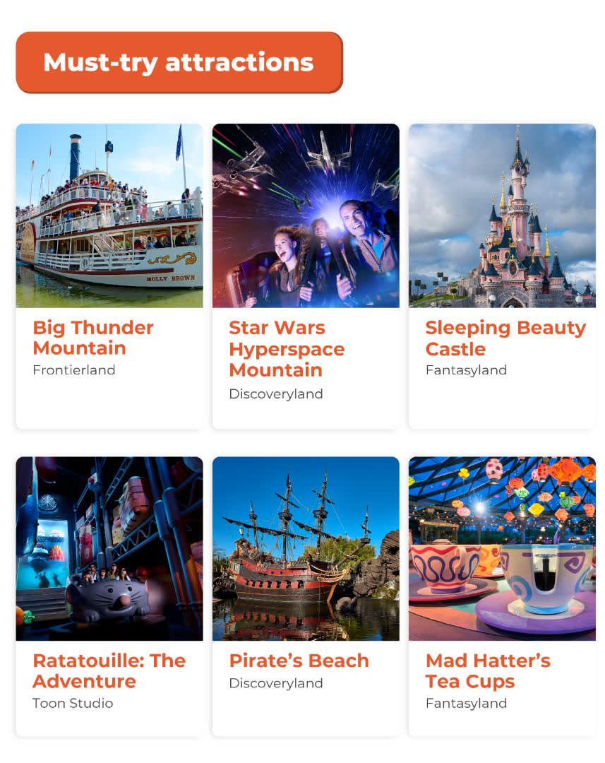 Disneyland Paris must try attractions