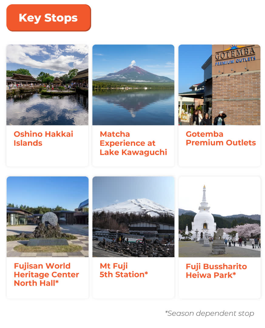 mount fuji day tour key stops