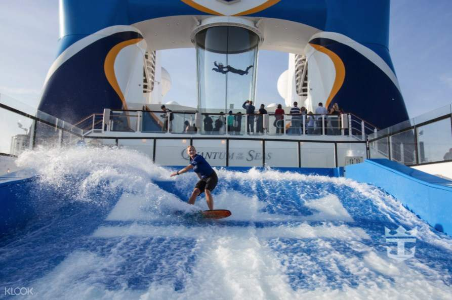 The surf's always up on the 12-metre-long FlowRider® surf simulator