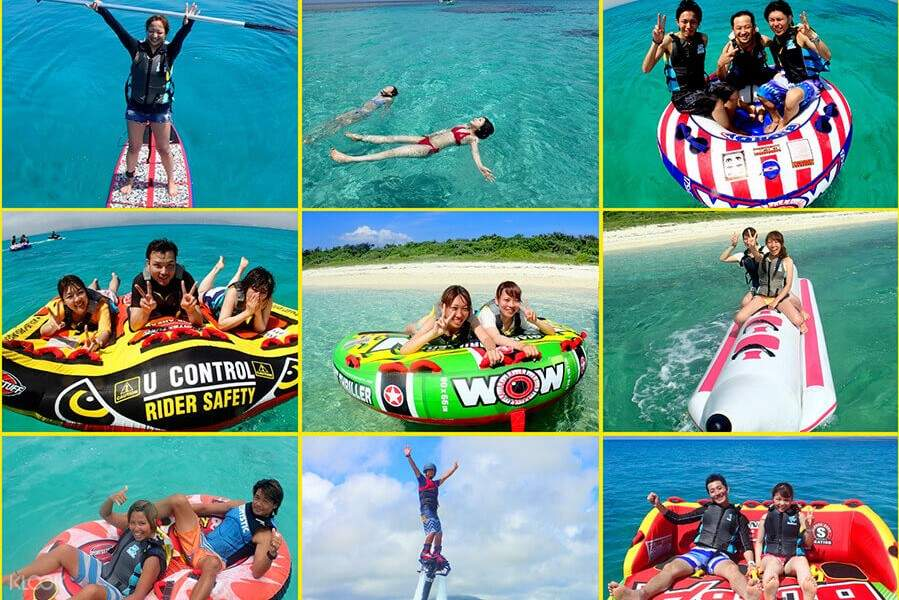 There are 16 different marine activities ready for everyone to join!