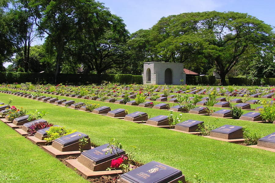 Walk through Kanchanaburi's World War Cemetery and learn about the history that time