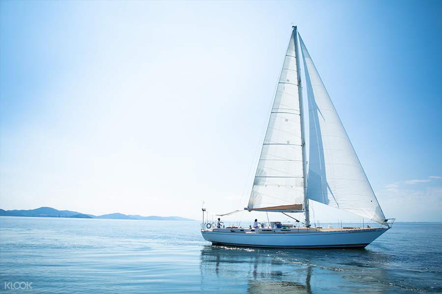 yacht cruising on mikawa bay