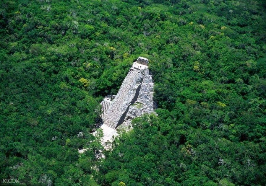 Climb Coba's famous temple pyramid