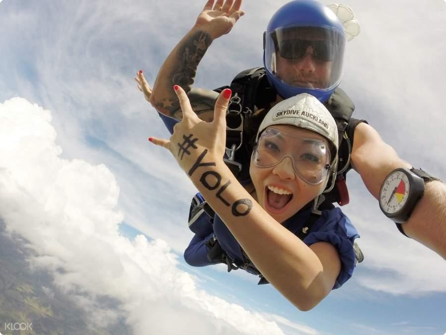 新西兰奥克兰高空跳伞