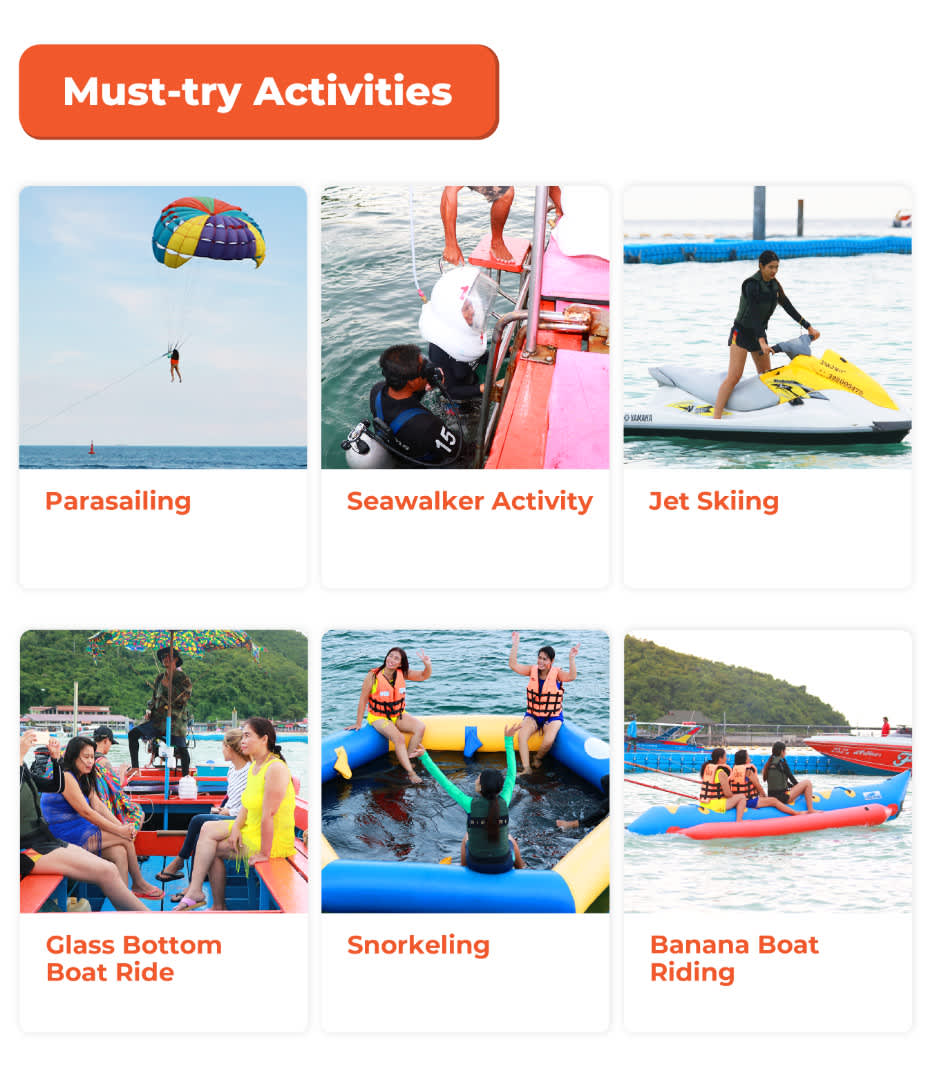 must try activities in koh larn
