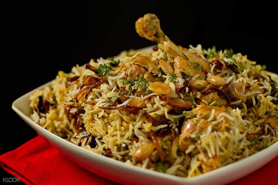 印度 海得拉巴街头美食 印式鸡肉炒饭