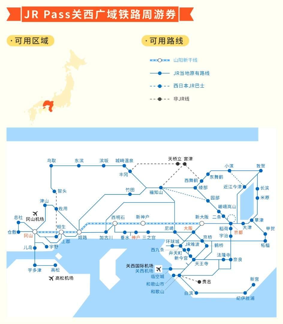 JR关西广域铁路周游券