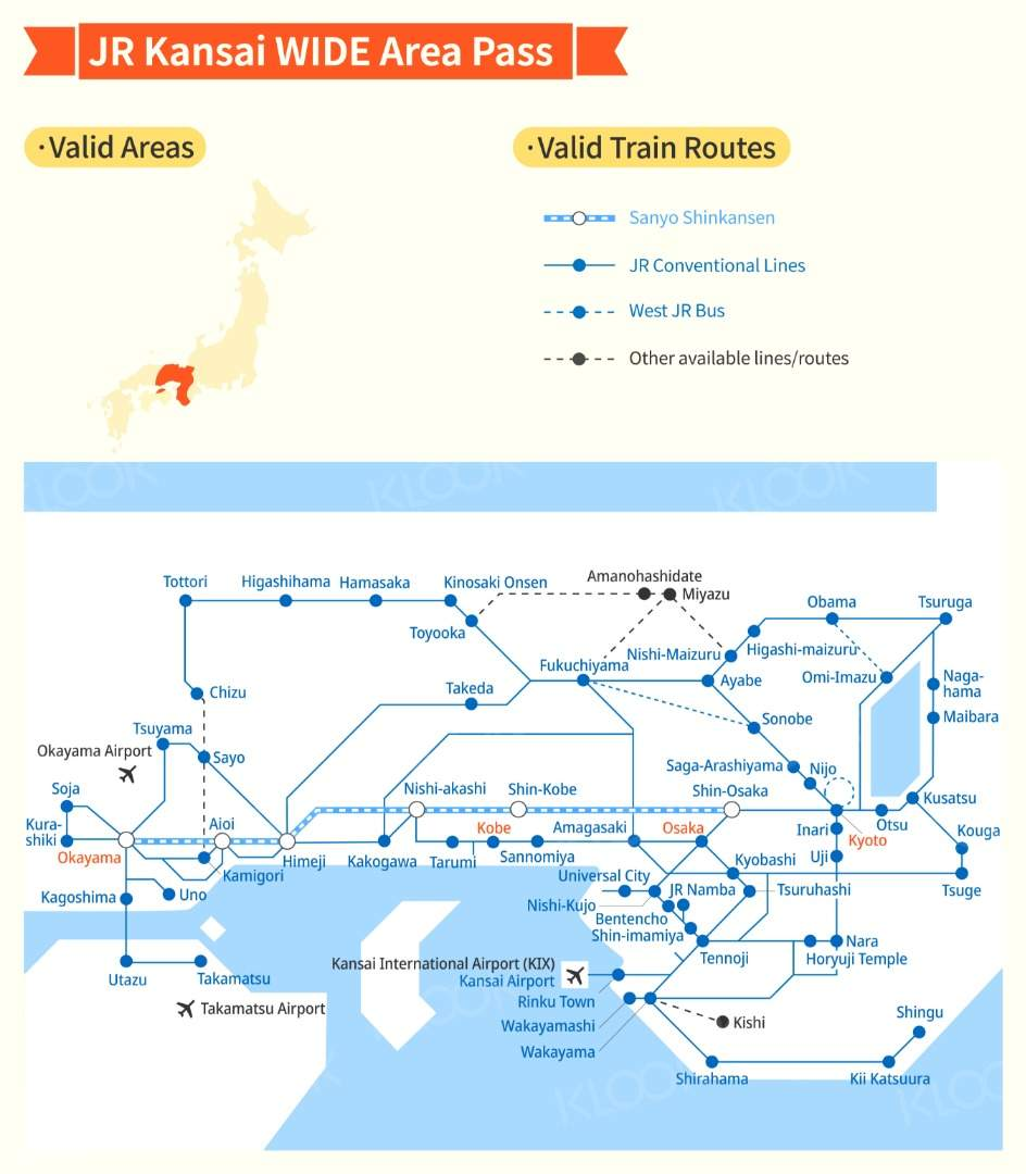 JR Kansai WIDE Area map