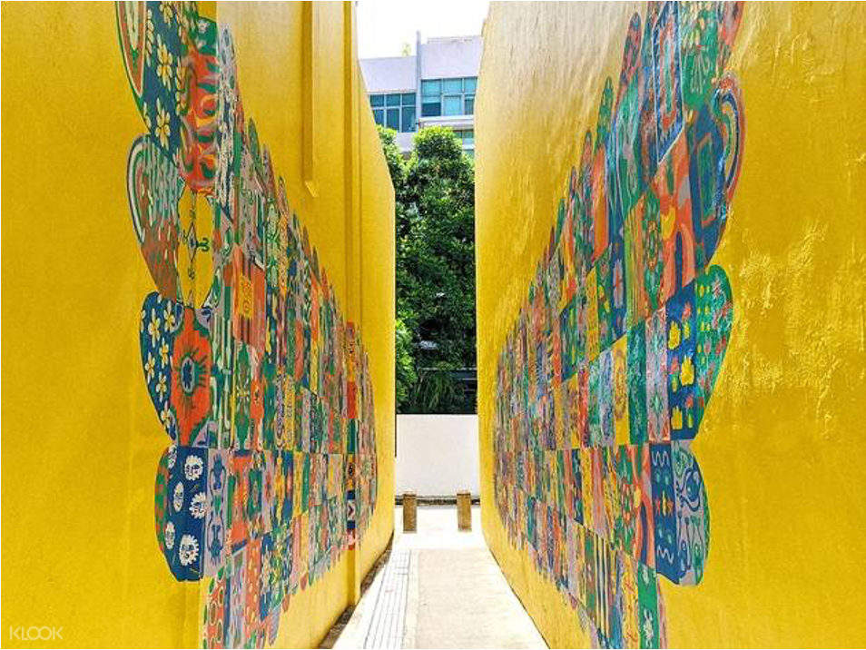 colorful walkway in singapore