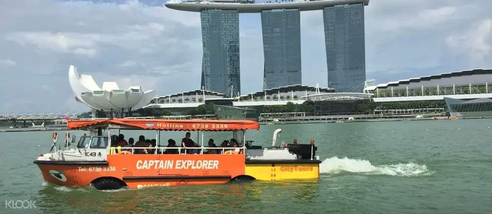 Enjoy the popular Captain Explorer DUKW® Tour with every SG55 city pass purchased