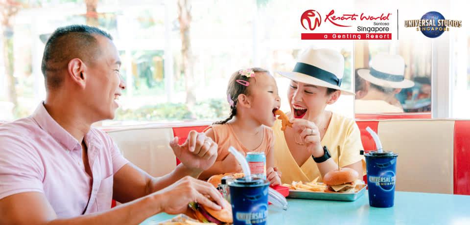 兒童享用美食