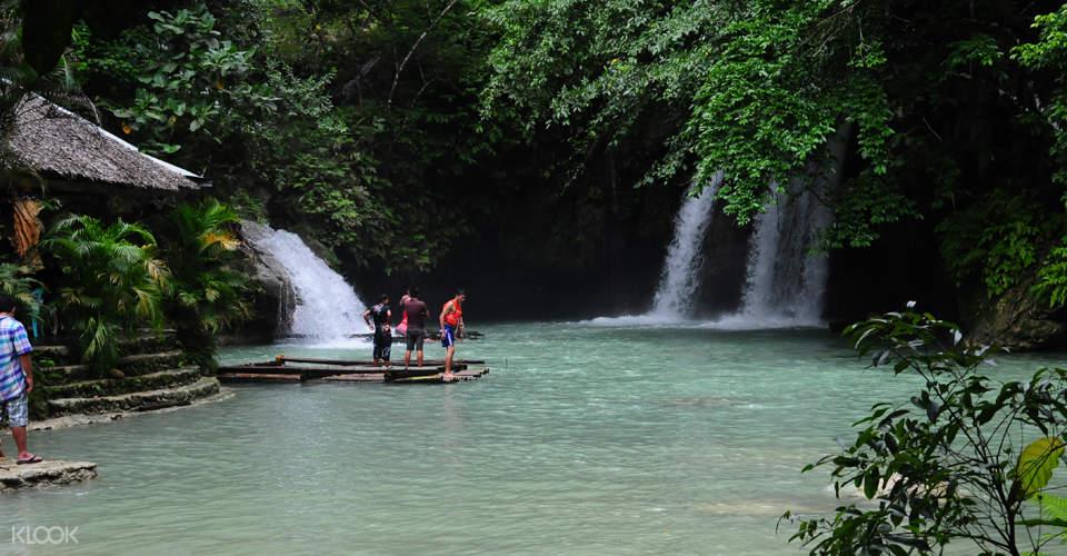 Kawasan Falls at Badian Canyoneering Adventure and Kawasan Waterfalls Join In Tour from Cebu
