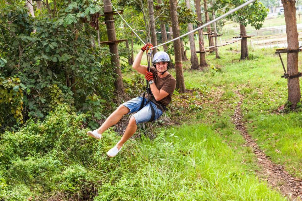 Karbi Fun Park甲米冒险乐园丛林飞跃